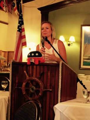 Rep. Holly Raschein speaking to the Southernmost Republican Club on 7-21-2015