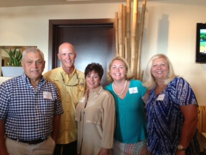 Robin Lockwood,Gov. Scott, Virginia Panico, Cara Higgins, Karen Horan