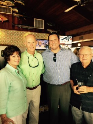 Virginia Panico, Governor Rick Scott, Robert Lockwood, Commissioner Phil Goodman 7-28-2015