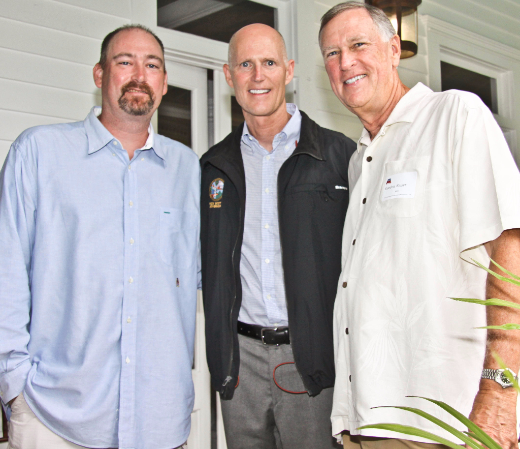 Ryan Keiser, Gov. Scott and Gordon Keiser