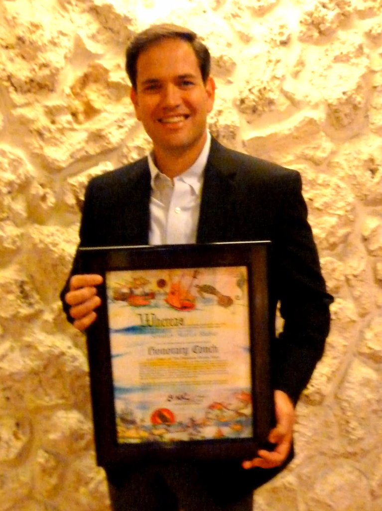 Senator Marco Rubio - Honorary Conch